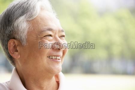 head and shoulders portrait of senior