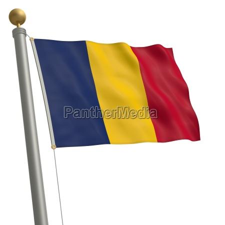 flagge von tschad