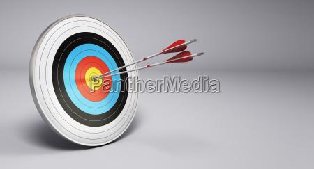 arrows hitting target archery