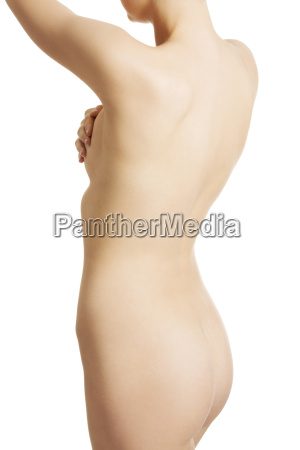 nude body of young fit woman