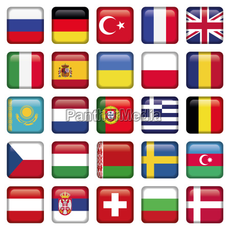 europa icons squared flags