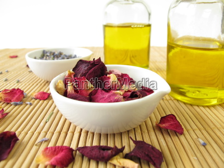 massage oil with lavender and rose