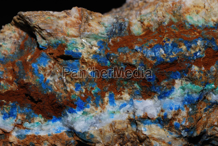 mineralien mit azurit detail