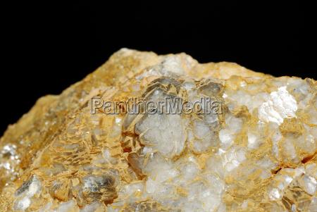 mineralien calcit blumen grossansicht