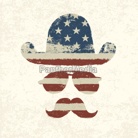 grunge american flag themed retro fun