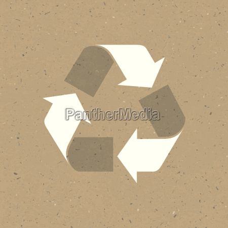recycled sign on reuse paper vector