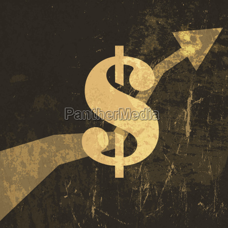 retro earnings grow up illustration dollar