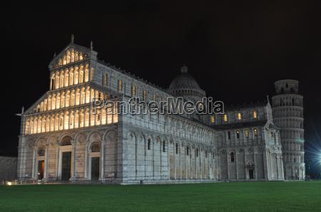 pisa at night tuscany italy