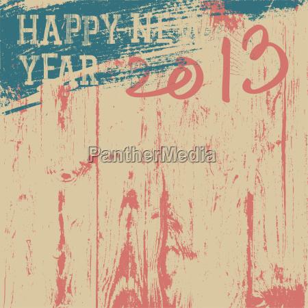 2013 new year background retro styled