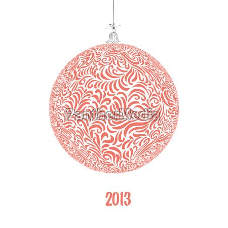 christmas ball illustration vector