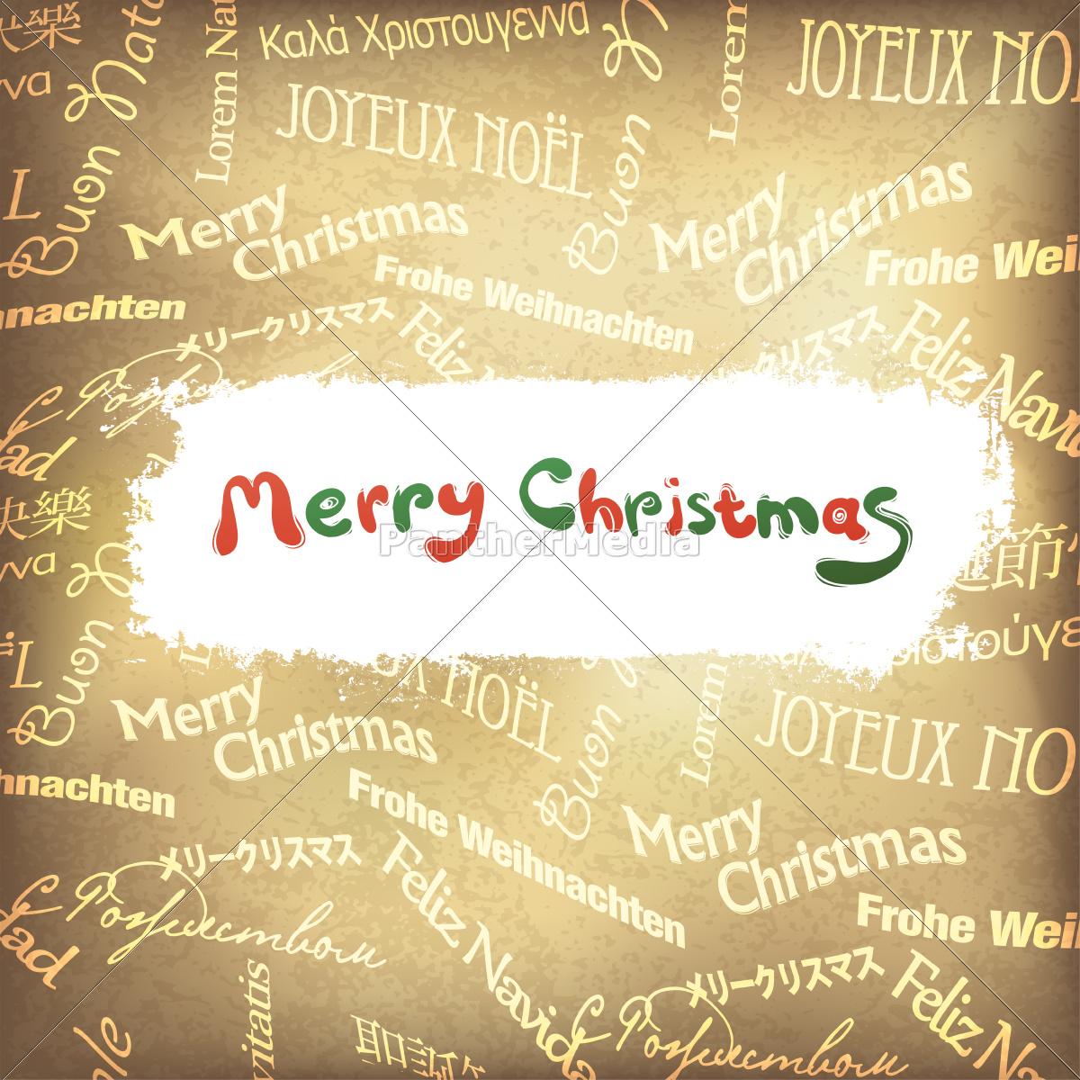 Weihnachtsgrüße In Verschiedenen Sprachen.Lizenzfreies Foto 9443592 Retro Weihnachtsgrüße In Verschiedenen Sprachen Vektor Eps10