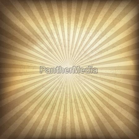 retro brown sunburst background vector illustration
