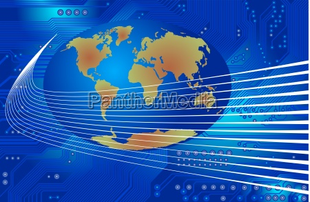 technology abstract global communication