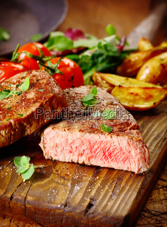 portion of healthy grilled beef steak