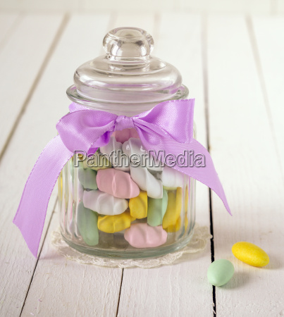 candy jar filled with sugar covered