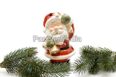 weihnachtsmann mit tannenzweig