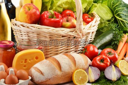 zusammensetzung mit verschiedenen lebensmittelprodukte