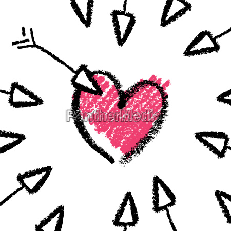 valentines day concept illustration arrows and