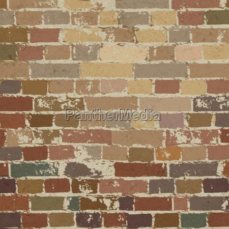 old brick wall pattern vector illustration