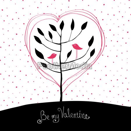valentines day background birds in love