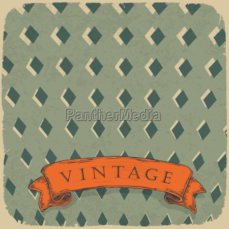 circus ornamented retro card vector background