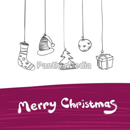 merry christmas gifts illustration vector eps8