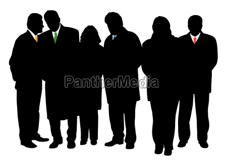 group of business people in winter