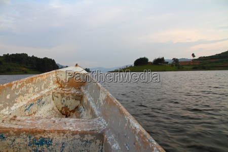old boat ride on community lake