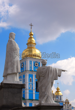 statue st michael cathedral kiev