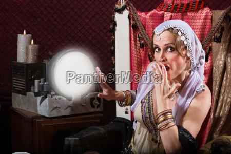 startled fortune teller