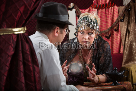 serious lady fortune teller