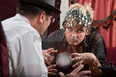 lady reading a crystal ball
