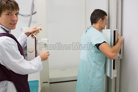 patient mit einem lungen roenchen