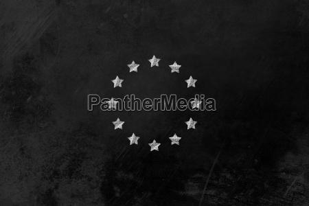 sternenkreis europaflagge auf tafel