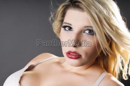 girl in white bra