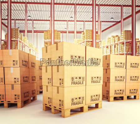 pallets in warehouse