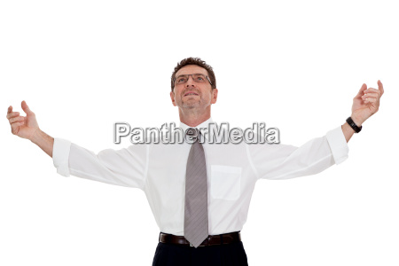 adult businessman joyfully happy