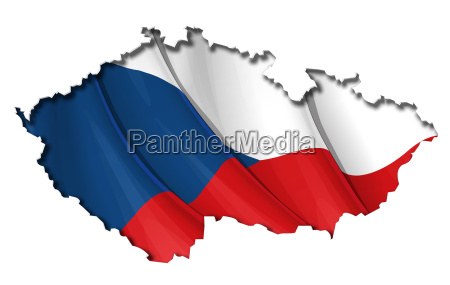 czech map flagge