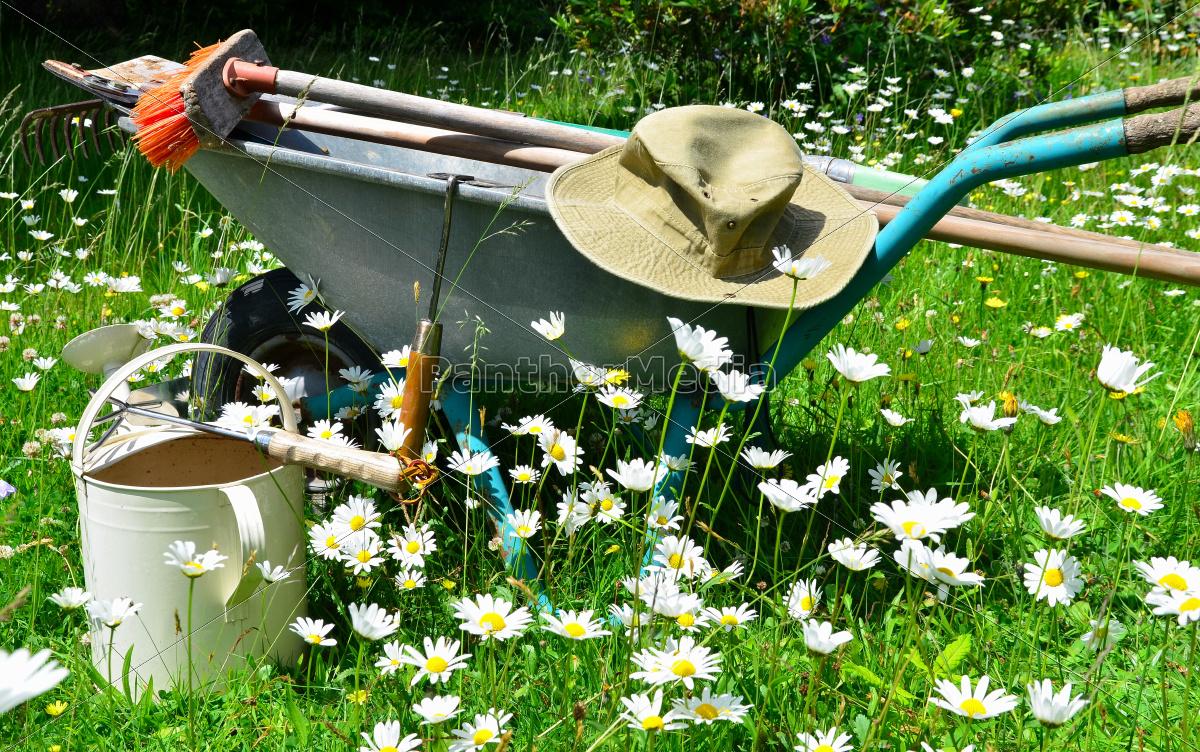 Garten Werkzeug Blumenwiese Stock Photo 9560426 Bildagentur