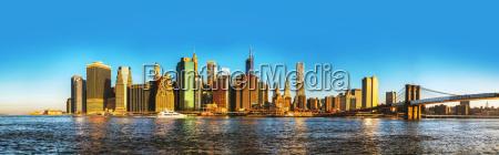 new, york, city, stadtbild, mit, brooklyn-brücke - 9571562