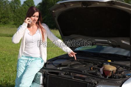 breakdown at the car
