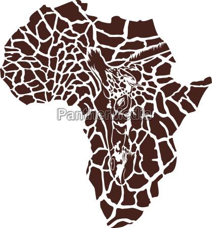 afrika in einer giraffentarnung