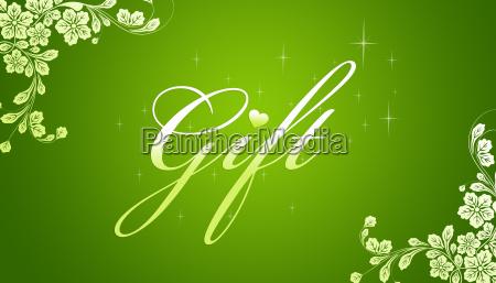 gruene geschenkkarte