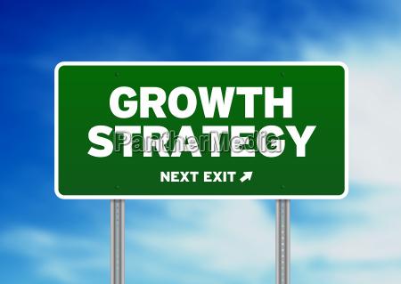 wachstumsstrategie strassenschild