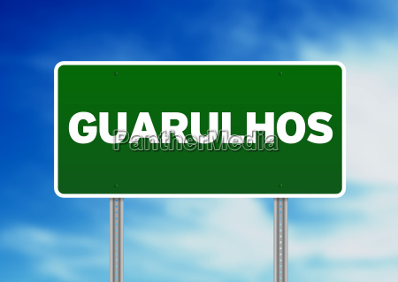 green road sign guarulhos