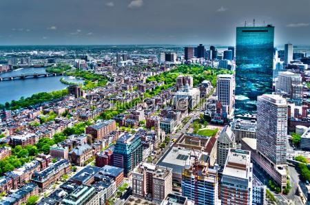 luftaufnahme von central boston usa