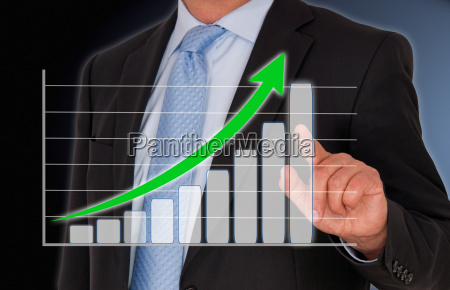 man with sales curve