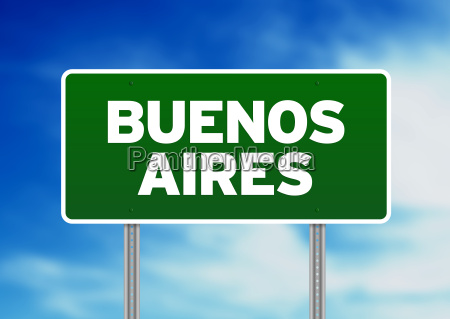 buenos aires road sign