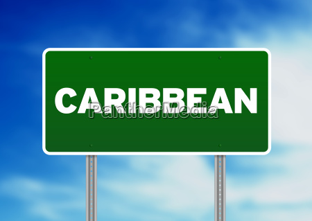 caribbean highway sign
