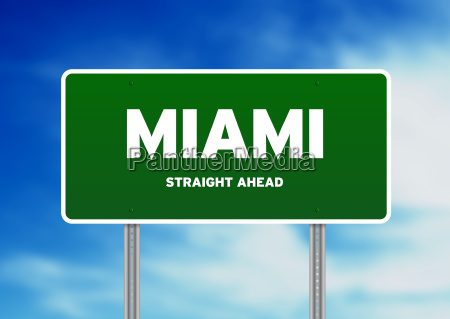 miami highway sign
